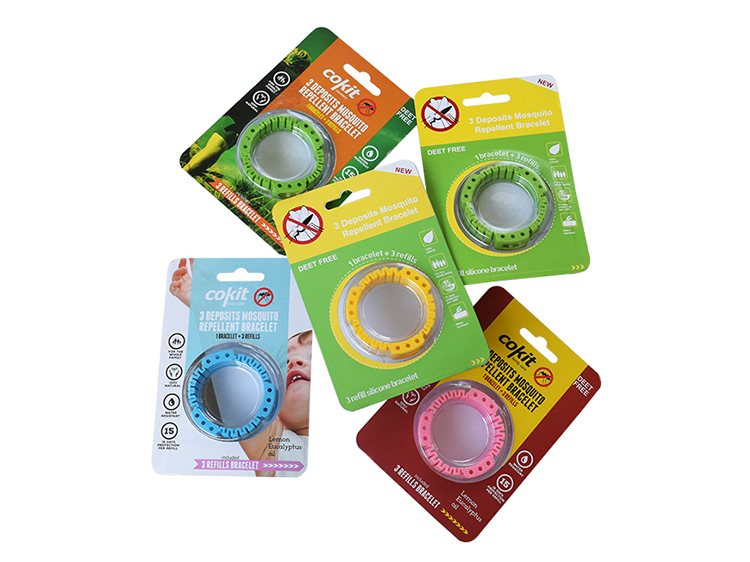 Adjustable silicon mosquito repellent bracelet with 3 refills6