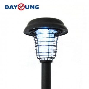 Outdoor garden solar power mosquito fly trap/killer lamp pest control