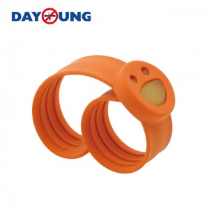 Smile face Slap mosquito repellent bracelet