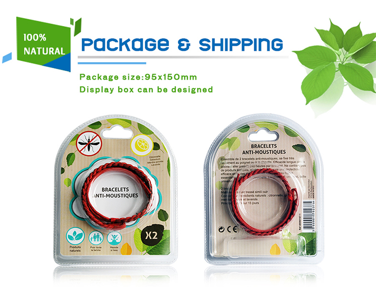 Leather pêşûyan repellent wristband-AMB104-5