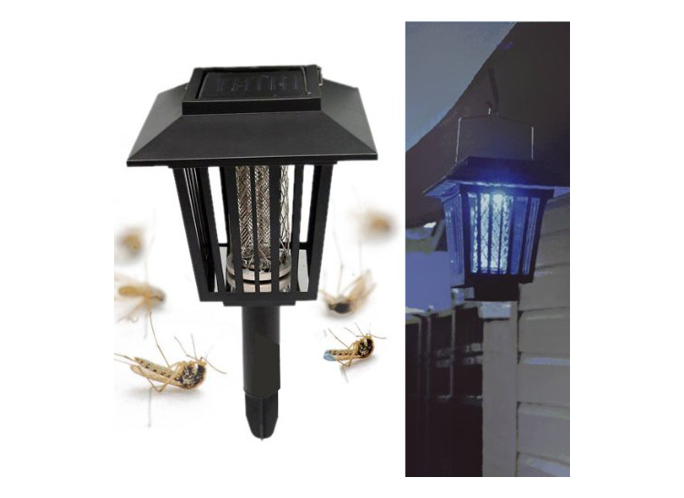 Outdoor solar mosquito kill light