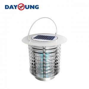 Solar mosquito killer lamp for gardens or campings
